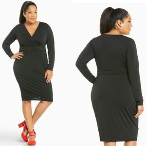 Torrid Shirred Front Bodycon Dress Black